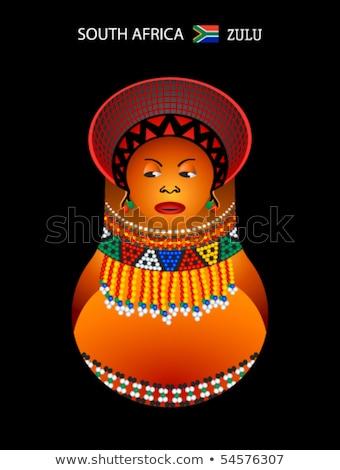 Matryoshka zulu girl Stock photo © sahua