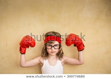 強い 少女 座って アームチェア 白 ビジネス ストックフォト © RuslanOmega