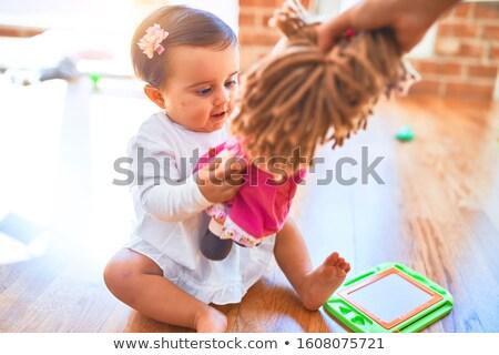 кукол доске работа в команде красочный бумаги заседание Сток-фото © Ansonstock