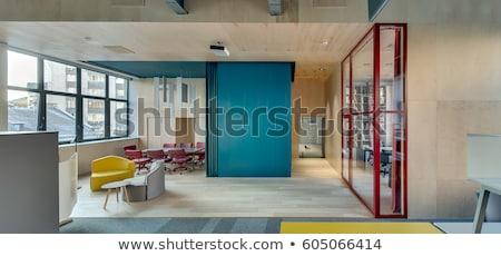 Red Glass Wall Photo stock © bezikus
