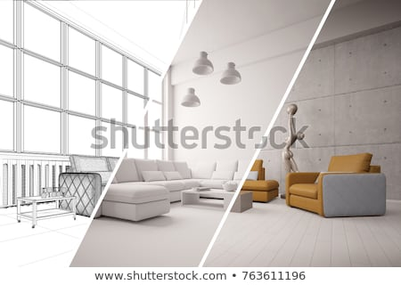 Architect with plans and 3D model Stock photo © photography33