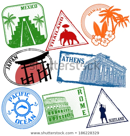 Stamp  printed in Thailand Stock photo © stoonn