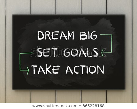 Stock photo: Dream big text written on a blackboard
