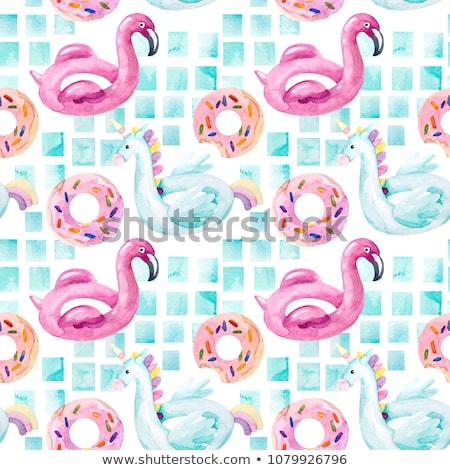Floating bubbles seamless tiling background Stock photo © Krisdog