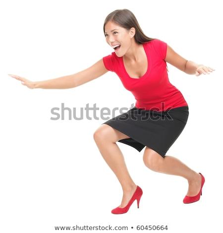 Businesswoman pretending to surf Stock photo © photography33