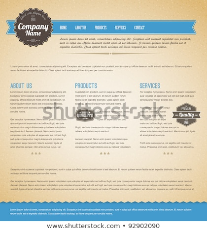 Blue Vector Retro vintage web page template stock photo © orson