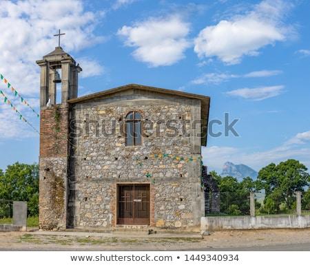 Edad iglesia campana abandonado torre ciudad Foto stock © blanaru