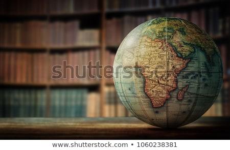 old book and globe stock photo © witthaya