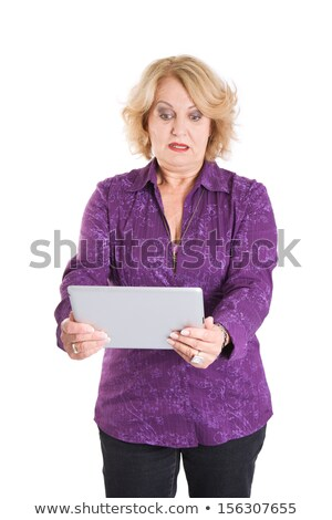 shocked woman reading an e mail stock photo © photography33