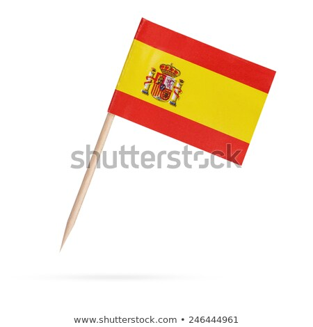Miniature Flag of Spain (Isolated) stock photo © bosphorus