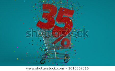 red thirty five percent stock photo © threeart