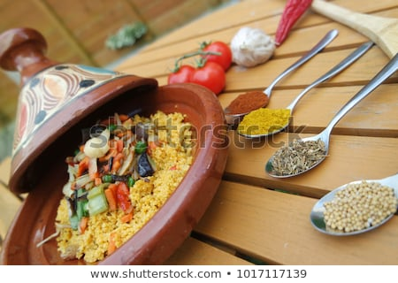 tagine with couscous and vegetables Stock photo © M-studio