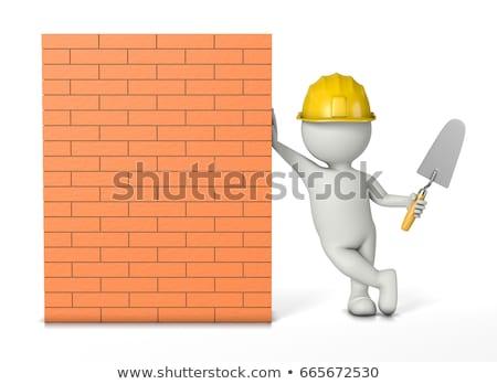 mason leaning on a wall Stock photo © photography33