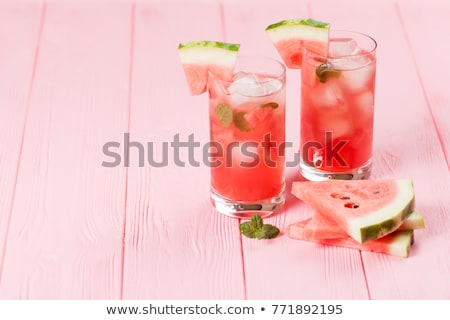 görögdinnye · martini · ital · menta · citromsárga · üveg - stock fotó © brulove
