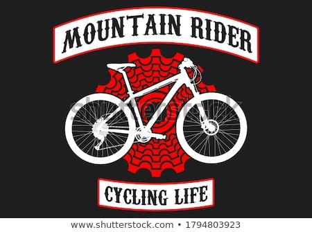 Carimbo imagem ciclismo papel Foto stock © perysty