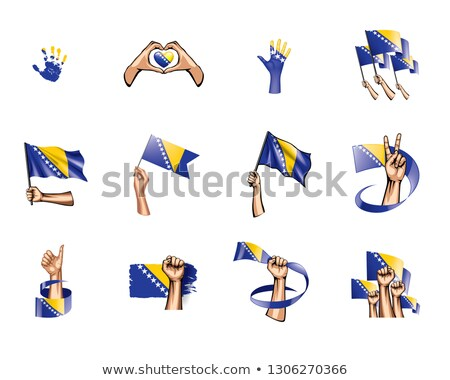 Imagen corazón bandera Bosnia Herzegovina país Foto stock © perysty
