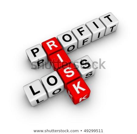 Profit Loss And Risk Crossword Stok fotoğraf © ALMAGAMI