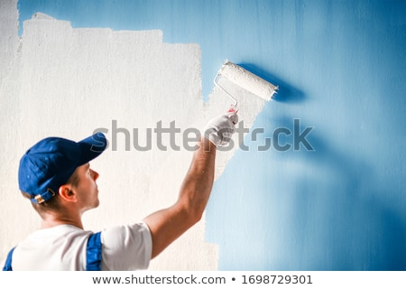 Peintre homme construction maison travailleur blanche Photo stock © photography33