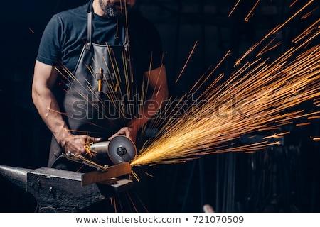 Metal Worker Using Grinder Stock photo © lisafx