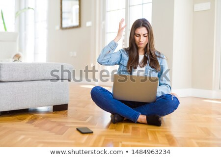 woman computer rage stock photo © smithore