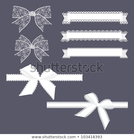 születésnapi · üdvözlet · csipke · íj · virág · papír · születésnap - stock fotó © gladiolus