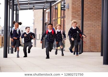 Grundschule · Klasse · außerhalb · stehen · Kinder · Schule - stock foto © photography33
