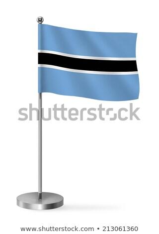 Miniatura banderą Botswana odizolowany spotkanie Zdjęcia stock © bosphorus