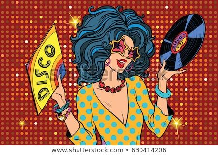 Disco silhouetten dansen partij vrouwen Stockfoto © kjpargeter