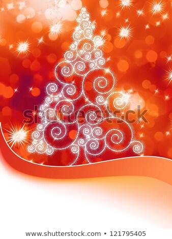 soyut · turuncu · kış · kar · taneleri · eps · vektör - stok fotoğraf © beholdereye