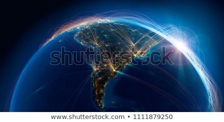 Global mundo espaço vetor mapa Foto stock © fenton