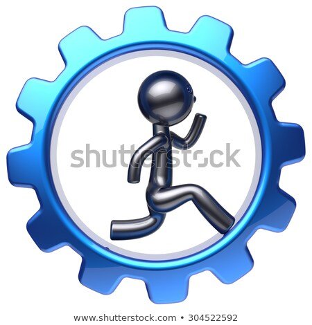 3d man inside a gear wheel stock photo © digitalgenetics