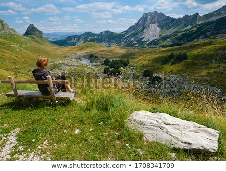 Bench for rest on the pass Stock photo © Coffeechocolates
