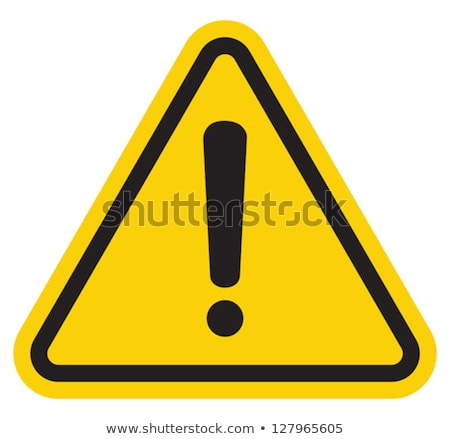 Yellow Warning Sign - Caution Stock photo © iqoncept