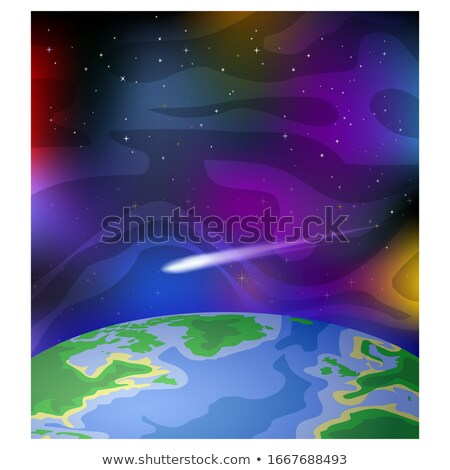 Cartoon meteoor eps10 hemel brand kunst Stockfoto © Larser