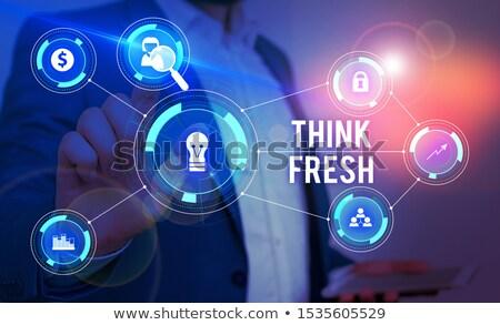 intelligens · gondolkodik · erő · ötletek · innováció · emberi - stock fotó © lightsource