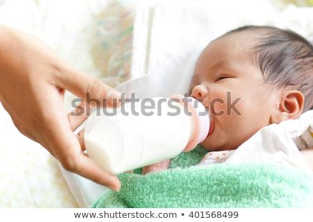 Pasgeboren asian wakker 7 dagen geboorte Stockfoto © szefei
