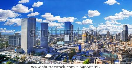 Ikonikus felhőkarcolók három felhőkarcoló egy hely Stock fotó © eldadcarin