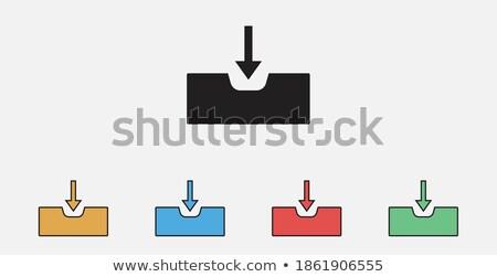 受信トレイ 矢印 セット 孤立した 白 ストックフォト © cteconsulting