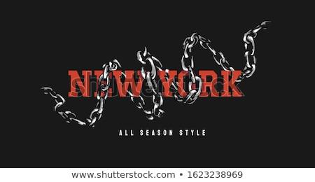 zincir · renkli · 3D · render · örnek · arka · plan - stok fotoğraf © head-off