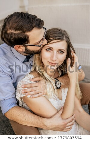 Stylish Man and Luxurious Woman. Luxurious Fashion Couple Flirting Stock photo © gromovataya