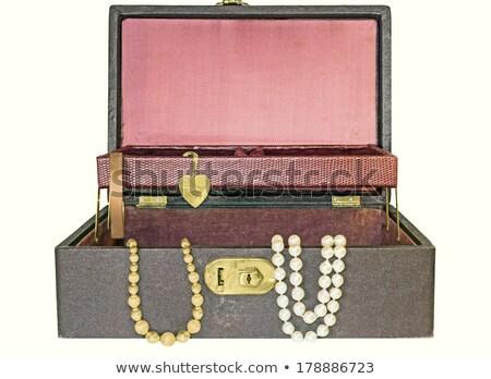Női karkötő szívek doboz izolált fehér Stock fotó © artush
