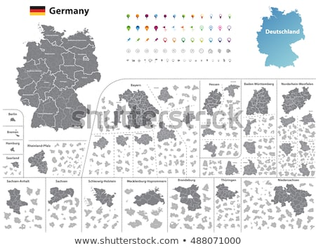 Germany map with Lower Saxony Stock photo © Ustofre9