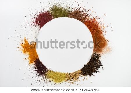 Asya vejetaryen gıda dört çanaklar farklı Stok fotoğraf © doupix