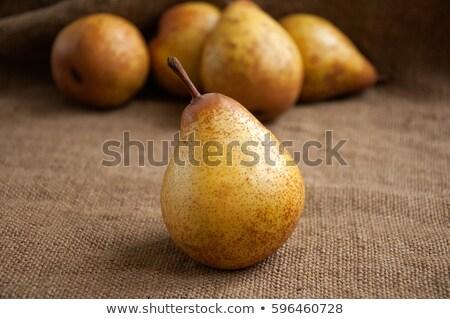 груши фрукты брезент текстильной продовольствие холст Сток-фото © tolokonov