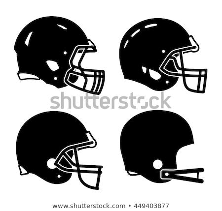 американский футбола шлема иллюстрация спорт спортивных Сток-фото © Krisdog
