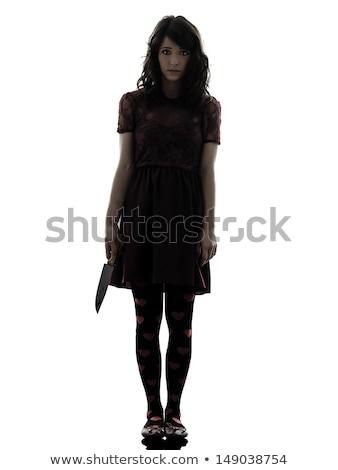 Véres kés merénylő fegyver nő férfi Stock fotó © lunamarina