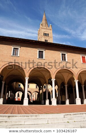 Basilica Abbey of San Mercuriale and cloister in Forlì, Italy Stock photo © aladin66