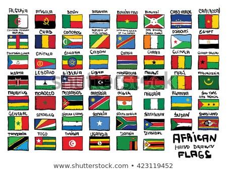 banderą · ilustracja · Nigeria · pióro · projektu · farby - zdjęcia stock © claudiodivizia