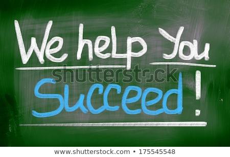 questions · réponses · tableau · lettres · écrit · école - photo stock © kbuntu