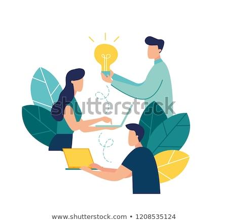 Pénzügyi agy üzlet emberi gondolkodik orgona Stock fotó © Lightsource